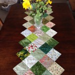 """Spring Greens"" table runner"